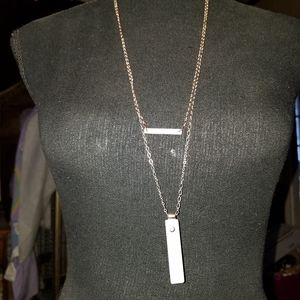 Jewelry - Single Bar Double Chain Necklace